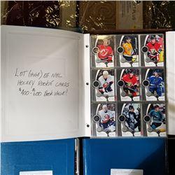 BINDER OF NHL ROOKIE CARDS