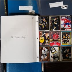 BINDER OF $500-700 NHL INSERT CARD LOT