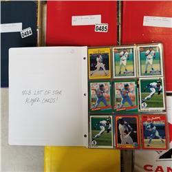 BINDER OF MLB STARS BASEBALL CARDS