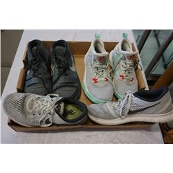 2 PAIRS NIKE SHOES AND PAIR OF ADIDAS - SIZE 7