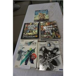 LOT OF VIDEO GAME GUIDE BOOKS - FINAL FANTASY VII, XII, GTA IV, AND SAN ADREAS