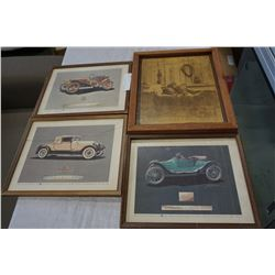 VINTAGE CAR PRINTS AND PICTURE