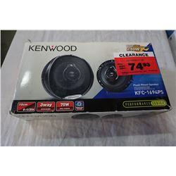 NEW IN BOX KENWOOD KFC-1694PS 6 1/2 INCH SPEAKERS
