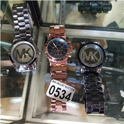3 MICHAEL KORS WATCHES UNAUTHENTICATED