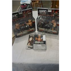 LOT OF UFC FIGURES IN BOXES