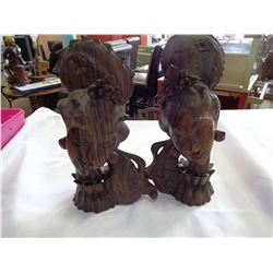 2 HAND CARVED EASTERN FIGURES