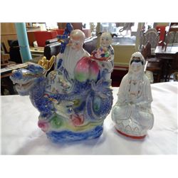 2 EASTERN PORCELAIN FIGURES