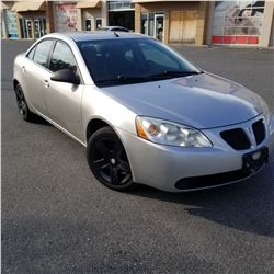 2008 PONTIAC G6, 4 DOOR SEDAN, 210160KM, AUTOMATIC WITH 2 KEYS AND FOBS, CAR FAX AND REGISTRATION