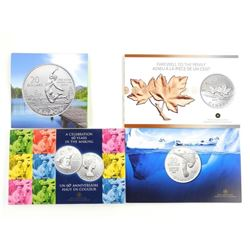 Lot (4) .9999 Fine Silver $20.00 Coins with Gift F