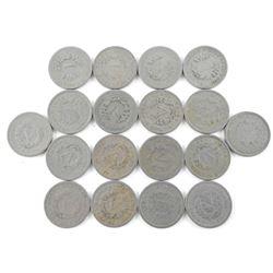 Lot (18) USA V 5 Cents