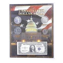USA Dollar Story in Acrylic Display.