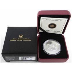 10.999 Fine Silver $5.00 Coin '25th Anniversary' S