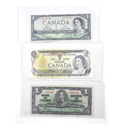 Group of (3) Canada 1.00 - 1937, 1954, 1973