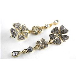 MM Crystal Designer Multi Tier Earrings 8.00ct Swa