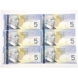 Lot (6) Group Bank of Canada 2008 - 5.00 Hockey -