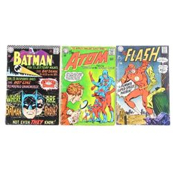 Estate Lot (3) Vintage Comic Books, FLASH, Batman,