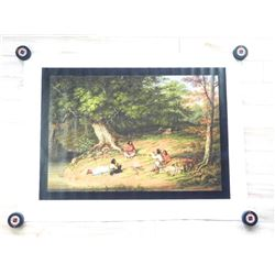C. Krieghof C1854 Canvas Native Scene 30x40""