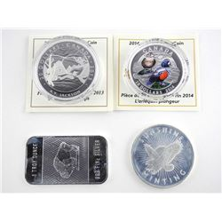 Grouping Collector Bullion 4 - .9999 Fine Silver C