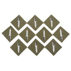 Lot (10) British Army Trained Infantryman's Sleeve