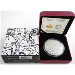 2014 $30 Fine Silver Coin - Canadian Contemporary Art (Damage to Coin Capsule).