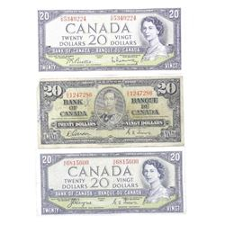 Group (3) Bank of Canada 20.00 1937, 1954 Devils F