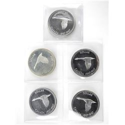 Lot (5) 1867-1967 Specimen Dollars
