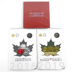 Lot (2) 2018-2019 D-Day and The War of 1812 2.00 C