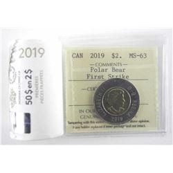 2019 Mint Roll - First Strike Canada Polar Bear $2