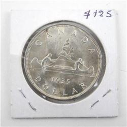 1935 Canada Silver Dollar George MS64.
