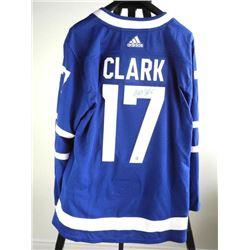 Wendel Clark - Toronto Maple Leaf - Hand Signed Je