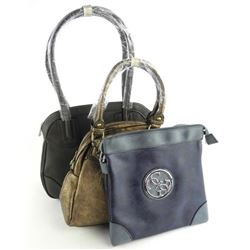 Group of (3) Carlo G Designer Hand Bags