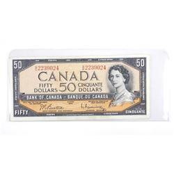 Bank of Canada 1954 Fifty Dollar. (AU) B/R