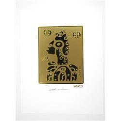 Christian Morrisseau (1969-) 24kt Gold Leaf - Lith