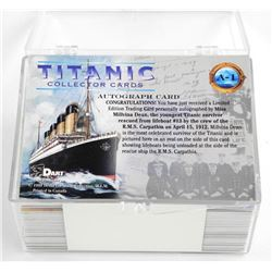 Titanic Collector Card Set, 72 Cards Includes Auto