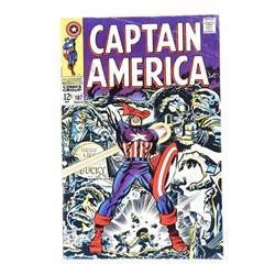 Vintage Comic 'Captain America' Marvel # 107 1968