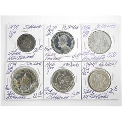Estate - Grouping (6) World Coins with Silver, Aus