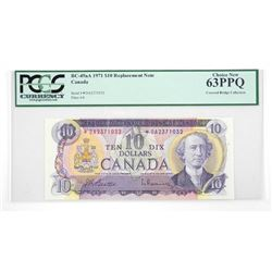 Bank of Canada 1971 * Replacement note C.B. Collec