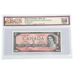 Bank of Canada 1954 Two Dollar Note. * Replacement