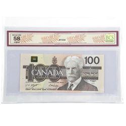 Bank of Canada 1988 100.00 BC-60d. AU58.BCS