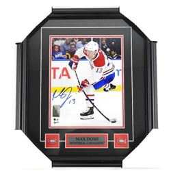 Max Domi - (MTL) 8x10 Photo, Signed with Pin and P