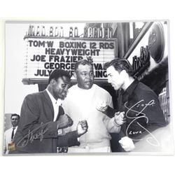 "George Chuvalo and Joe Frasier (1944-2011) 16x20"""
