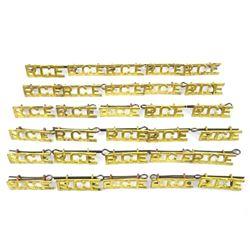 Lot (15 PR) Royal Canadian Engineer's Brass Titles