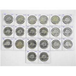 Lot (20) Canada Silver Dollars 1966 - Graded from
