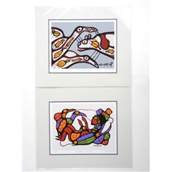 """Pair Norval Morrisseau (1931-2007) Giclee's 11x13"""""""