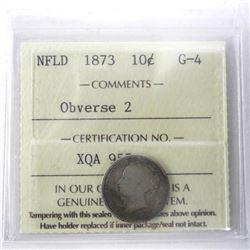 NFLD 1873 10 Cent G-4 Obverse 2 ICCS