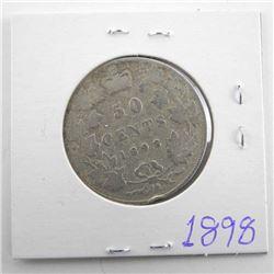1898 Canada Silver 50 Cent