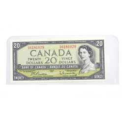 Bank of Canada 1954 Modified Portrait Twenty Dolla