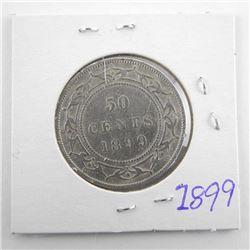 1899 Victoria Silver 50 Cent