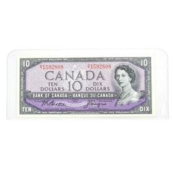 Bank of Canada 1954 Modified Portrait Ten Dollar N