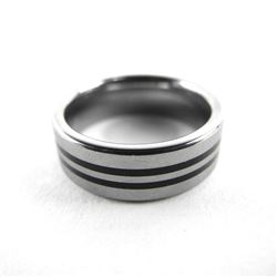 Gents Tungsten Carbide Band Ring (ER) Size 10